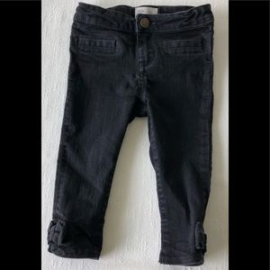 NWT BABY GAP Skinny Jeans Ankle Bows 2T